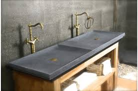 unique vessel sinks bathroom wall mounted double trough sink