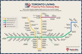 Subway Station Map by Toronto House Price Map Shows Some Subway Stations Are Still