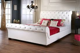 Homesullivan White Queen Upholstered Bed Bwabed The Home - White leather queen bedroom set