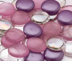 signing stones for wedding purple glass signing stones wedding collectibles