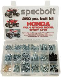 250pc specbolt honda 400ex u0026 250ex bolt kit for maintenance
