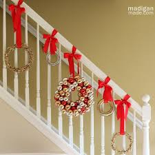 Christmas Decorations Banister Christmas Staircase Decorations That You Have To See