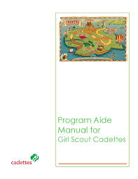 program aide manual for cadette scouts by scouts in the