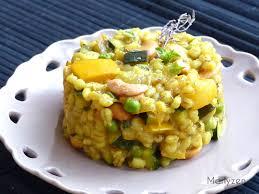 cuisiner du patisson curry d orge perlé au pâtisson à la courgette et aux petits pois