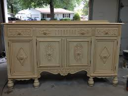 antiqued buffet refurbished for tiny house kitchen cabinet add