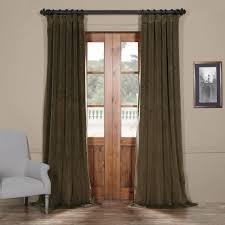 signature hunter green blackout velvet curtain u0026 drapes