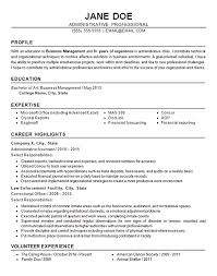 Financial Resume Example by Administrative Resume Example Business Finance