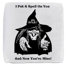 How Do You Spell Ottoman Witch Putting A Spell On You Cube Ottoman By Hellsgateway