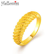 gold jewelry rings images Gold color jewelry rings for women spiral pattern round ring dubai jpg