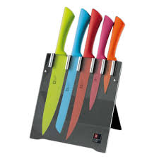 Kitchen Knives Block by Richardson Sheffield Love Coloured Knife Block 5 Pieces Robert