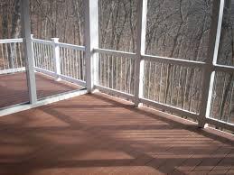 decks with white vinyl railing st louis decks screened porches