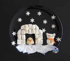 rilakkuma snowman and igloo winter food art bento days