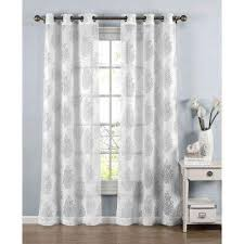 Sheer Off White Curtains Sheer Curtains U0026 Drapes Window Treatments The Home Depot
