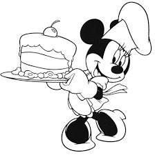 minnie mouse coloring pages birthday cake coloringstar