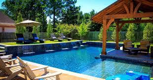 sloped backyard pool ideas backyard fence ideas