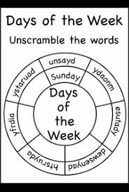 days of the week free printable worksheets u2013 worksheetfun