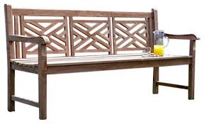Asian Benches Teakwood 3 Seater Cross Bench Asian Outdoor Benches By