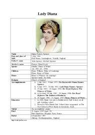 b ing biography of lady diana