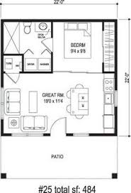 small efficient home plans sidekick homes one tree 484 sq ft incredibly efficient layout