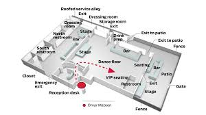 emergency exit floor plan template orlando nightclub shooting timeline of events inside pulse