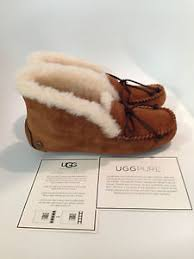 ugg moccasin slippers sale ugg australia alena chestnut moccasin slipper s sizes 5 11