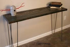 hairpin leg console table console table minimalist mid century hairpin legs urban rustic