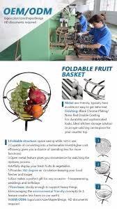 modern fruit holder decorative modern design chrome wire fruit basket with banana