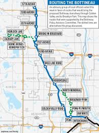 Light Rail Map Minneapolis Panel Backs New Route For Bottineau Lrt U2013 Finance U0026 Commerce