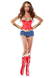 women u0027s corseted wonder lady costume ladies costumes costumes