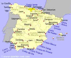 spain on a map golf courses in cantabria northern spain