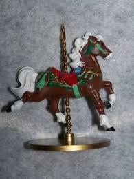 hallmark prancing reindeer carousel ride ornament nib 2006