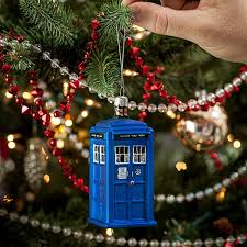 doctor who tardis glass ornament a shiny timey wimey