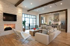 light filled home with stone walls and unique style cornerstone
