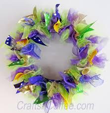 How To Make Mardi Gras Decorations Diy Four Big U0026 Easy Mardi Gras Wreaths Crafts U0027n Coffee