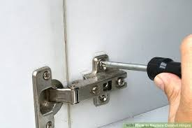 Ways To Replace Cabinet Hinges WikiHow - Kitchen cabinet replacement hinges