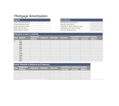 Mortgage Calculator Amortization Table by 28 Tables To Calculate Loan Amortization Schedule Excel