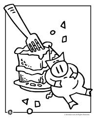 birthday pig coloring woo jr kids activities