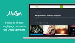 one page free html css website template bootstrap 3 u2013 meilleur