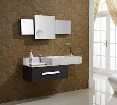 Rustic Wood Bathroom Vanity - bathroom simple brown floating wood vanity rustic wood wall