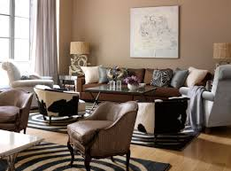 winsome twin table lamp between brown sofa and stunning interior