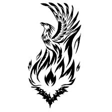 rising from fire tattoo design