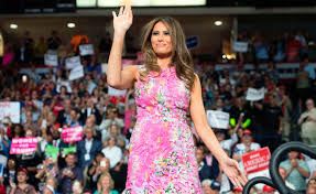 melania trump u0027s floral dress is one of her prettiest choices yet