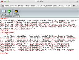 format html sed html cleanup sitecore cms support drexel university