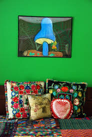 vintage mexican bohemian bedroom decor ideas mushroom embroidery