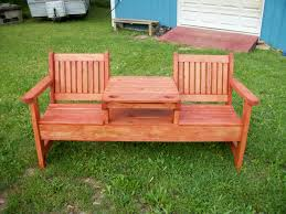 stunning wooden patio bench sweet couple set and square table in