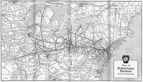 Map Of Pennsylvania The Pennsylvania Railroad