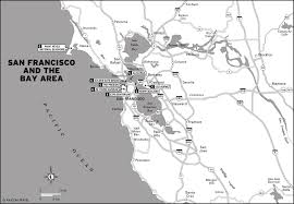 Map Of Greater San Francisco Area by Map California San Francisco And The Bay Area Bay Area