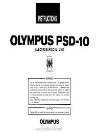 olympus psd 10 esu user manual electrical connector switch