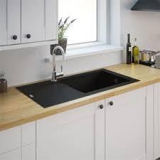 evier de cuisine noir générique evier de cuisine reversible noir à encaster 1 cuve xl