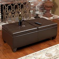 stunning brown leather storage ottoman u2013 interiorvues